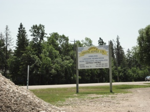Familiar Eddies Gravel Sign on HWY 9